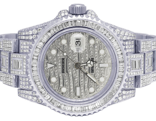Rolex Gmt Master Ii Steel Diamond 116710 Bezel Band 4 18k White Gold 116769 Ice For Sale Online