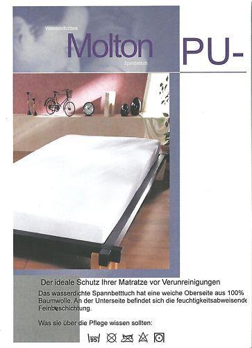 Wasserdichte Matratzenauflage Molton 1A Ware 100x200