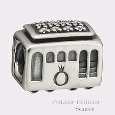 Authentic Pandora Sterling Silver Cable Car Bead 791219CZ