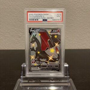 Pokemon Charizard V Secret Rare 079/073 - PSA 9 MINT - Champions Path 2020