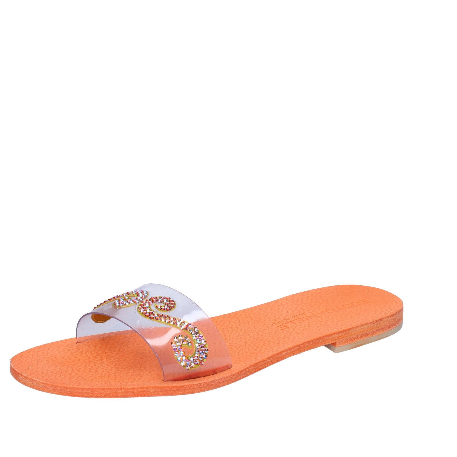 scarpe donna EDDY plastica DANIELE 37 EU sandali arancione plastica EDDY swarovski AW448 c69218