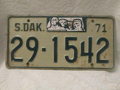 1960 South Dakota Trailer License plate  29-1344