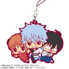Gintama Gintoki Kagura and Shinpachi Rubber Phone Strap NEW