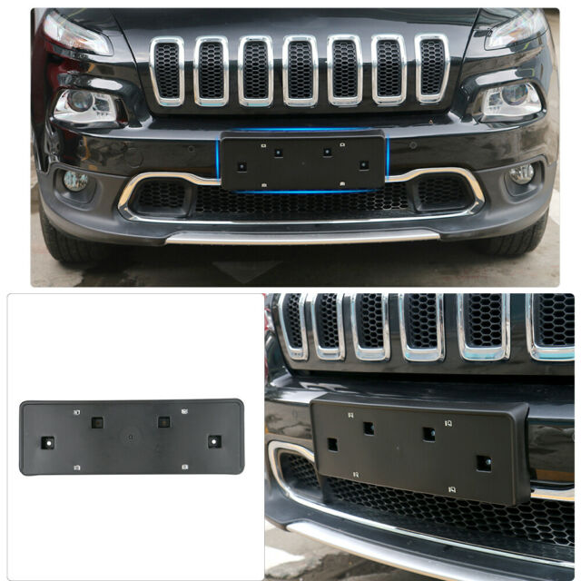 2014-18 Fits Jeep Cherokee Front License Plate Tag Bracket Holder with Screws