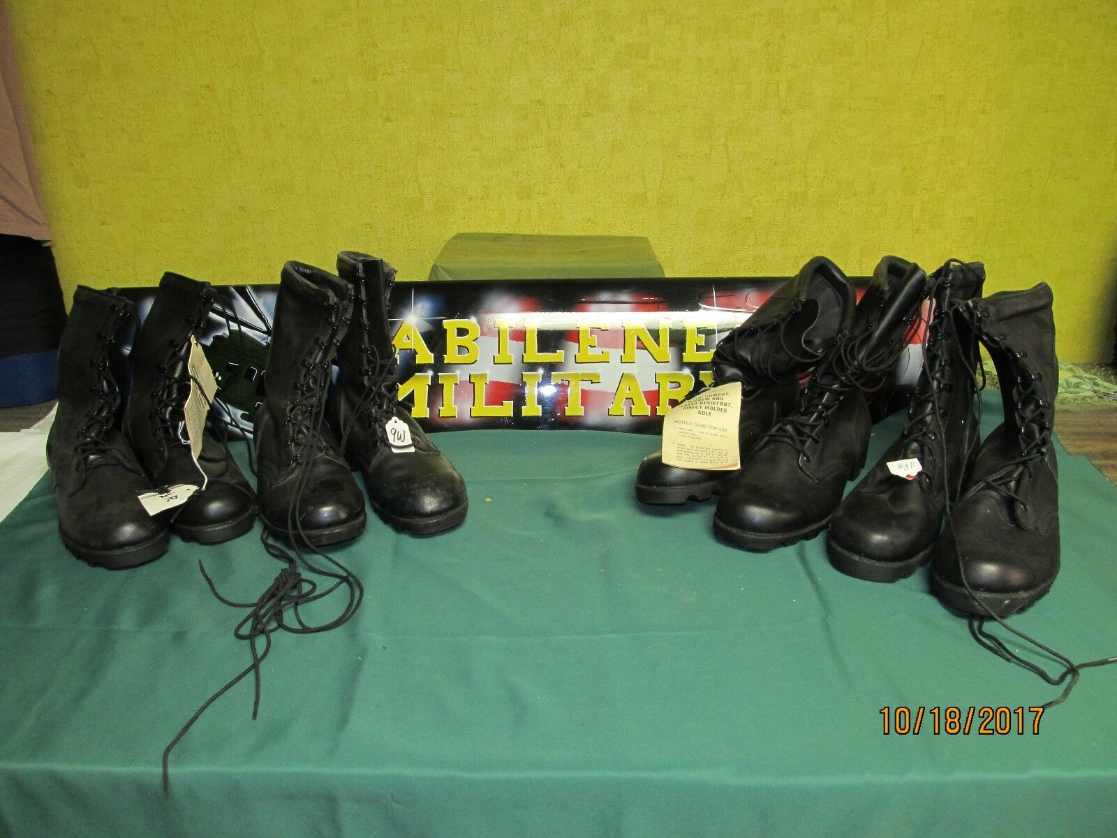 Military Army SpeedLace Boots Black Leather GI Issue Biker NEW