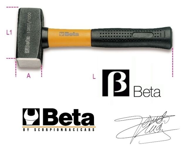 Holzhammer Mazzola mit Griff in Faser Glasflasche 1500 gr Beta Artikel 1380T