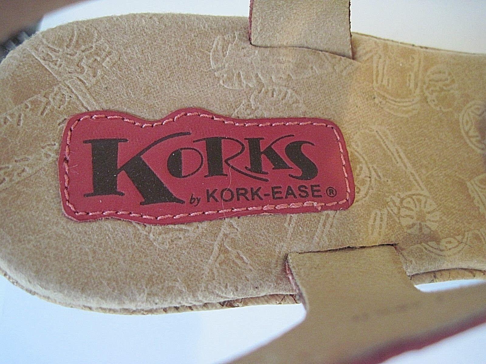 Korks by Kork-Ease DELLA Pink Größe Leder Platform Wedge Sandales Größe Pink 8/ EU 39 149ae6