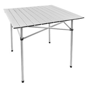 Moustache Portable Camping Square Aluminum Folding Table , 70cmx70cm- Table Only