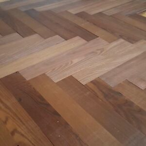 Image Is Loading Thermo Treated Ash Parquet Flooring Solid Dark Wood