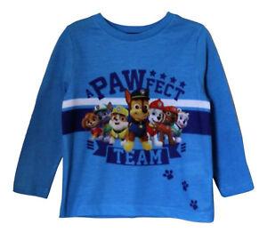 Tm-Paw-Patrol-Lizensiert-Langaermlig-T-Shirt-Blau-fuer-Jungen-Kinder