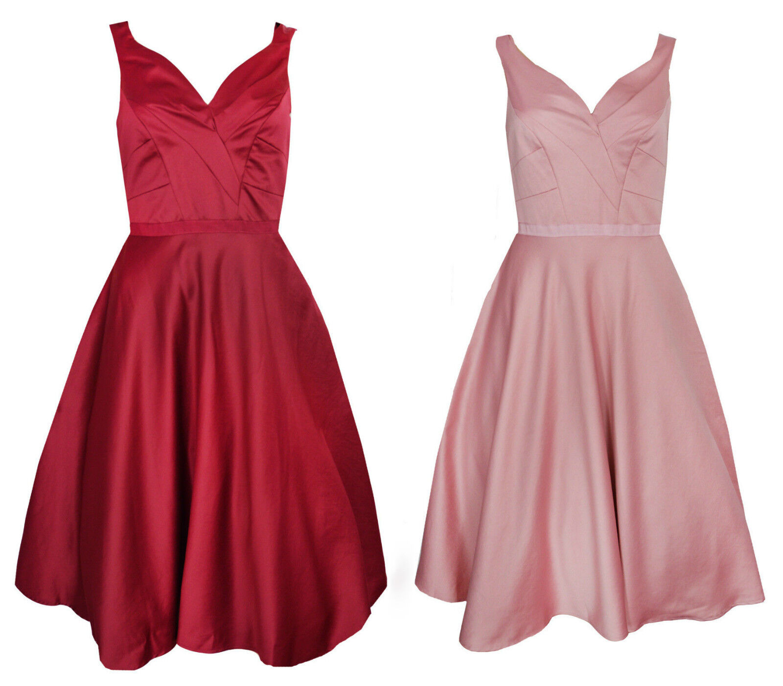 MONSOON satin tulle party ball formal bridesmaid dress RRP  Pink Red