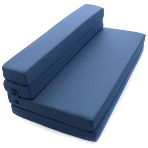 Guest Futon Foam Bed Tri-Fold Sofa Cot New Milliard Folding Mattress Queen Size