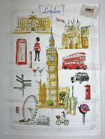 Le Telerie Toscane Cotton Kitchen Tea Towel London -