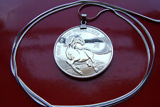 """2014 Year of Horse 1 oz. 999 Silver UK Coin Pendant on a 30"""" .925 Silver Chain"""