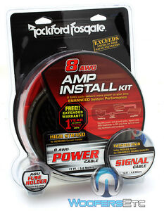 amp wiring kit gauge amp image wiring diagram rockford fosgate rfk8i 8 gauge car audio subwoofer speaker on amp wiring kit 8 gauge