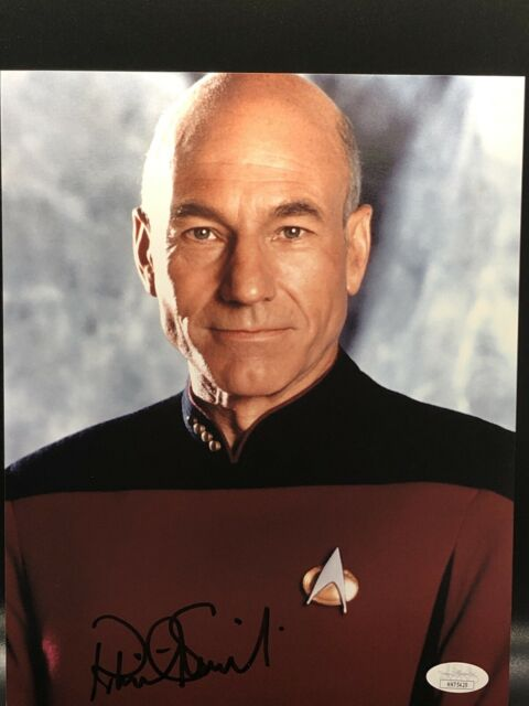 Patrick Stewart Star Trek Signed 8x10 Photo Picard JSA COA