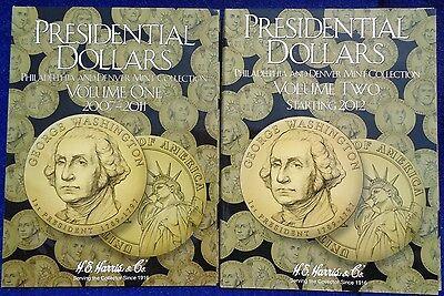 H E HARRIS 2277 Coin Folder Presidental Dollars Vol 1 2007-2011