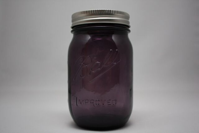Purple Ball Improved Mason 100th Anniversary Vintage Style Canning Pint Jar