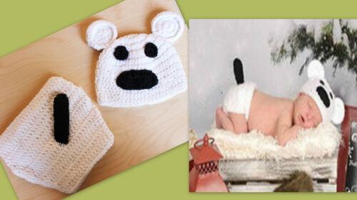 ★★★NEU Baby Fotoshooting Eisbär weiß passende Fliege oder Schleife 0-9 Mon.★★★H