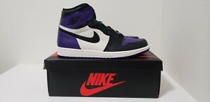 Air Jordan Retro 1 High OG Court Purple 555088 501 DS Size 13 ... 3fe8b499f