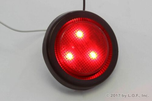 """MARKER LIGHTS TRUCK TRAILER RV 4 PACK Submersible Red LED 2/"""" ROUND CLEARANCE"""