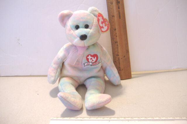 245ec8b825a Celebrate Ty Beanie Baby 15 Year Anniversary Teddy Bear MWMT DOB March 13  2001