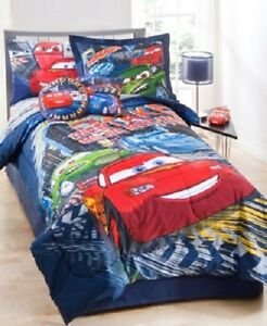 pixar cars full comforter shams bedskirt pillow giant decal 6 pc set