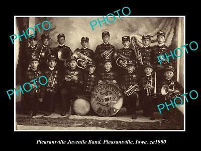 Historical Memorabilia Old Large Historic Photo Of Pleasantville Iowa Pleasantville Brass Band C1900 Strengthening Sinews And Bones