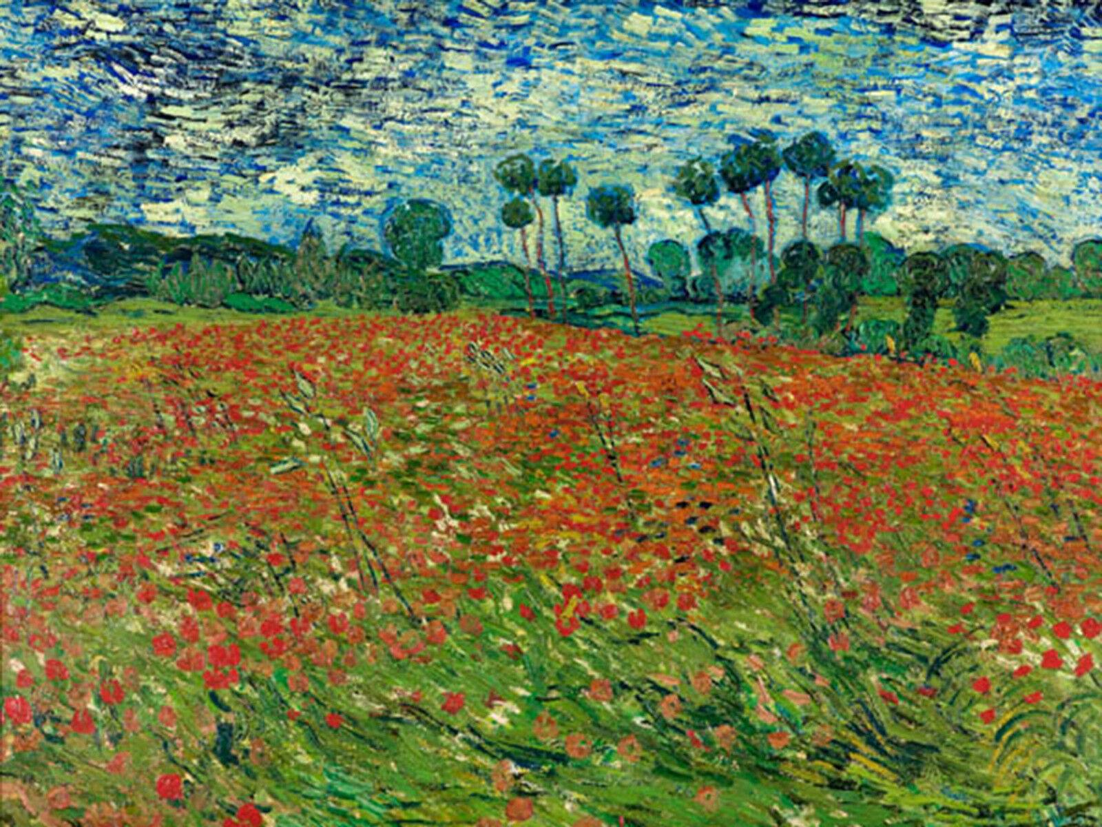 Quadro su Pannello in Legno MDF Vincent Van Gogh Poppy Poppy Poppy field | Vente  2cad68