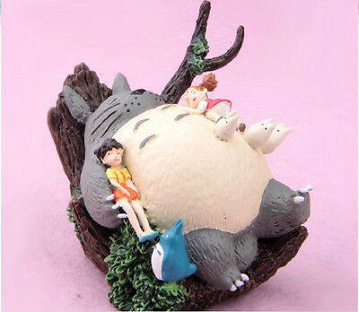STUDIO GHIBLI Classic My Neighbor Totoro Resin Figure Scene Figurine Gift New