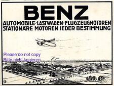 Benz Automobile Reklame 1914 Lastwagen Flugmotoren Flugzeug Auto Mercedes +