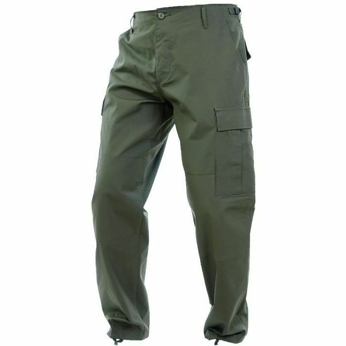 Mil-Tec Mens RIPSTOP Army Combat BDU CARGO PANTS Field Trousers Olive OD