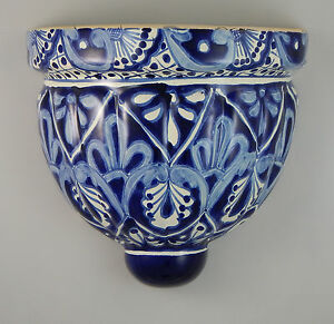 Image Is Loading Mexican Ceramic Wall Hanging Planter Folk Art Sconce
