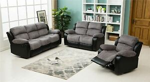 Image Is Loading New Luxury California Jumbo Cord Faux Leather Recliner