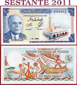 com-TUNISIA-1-2-DINAR-1-6-1965-P-62-Light-center-fold-Banknote-AUNC