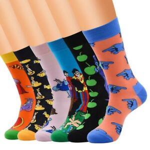 NEW-Mens-Cotton-Blend-Socks-Animal-Moustache-Novelty-Funny-Sock-SALE-Best
