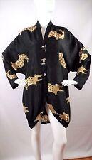 "Vintage LAISE ADZER Silk Batik Crocodile Art to Wear Lagenlook Tunic OSFM B:52"""