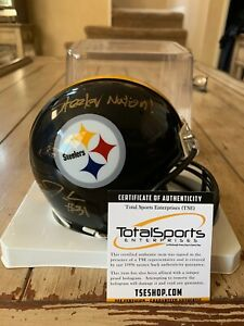 Mike-Hilton-Autographed-Signed-Mini-Helmet-TSE-COA-Pittsburgh-Steelers-Mean-C