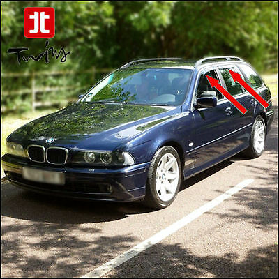 4 Déflecteurs de vent pluie air teintées BMW Série 5 E39 Touring  SW 1995-2003