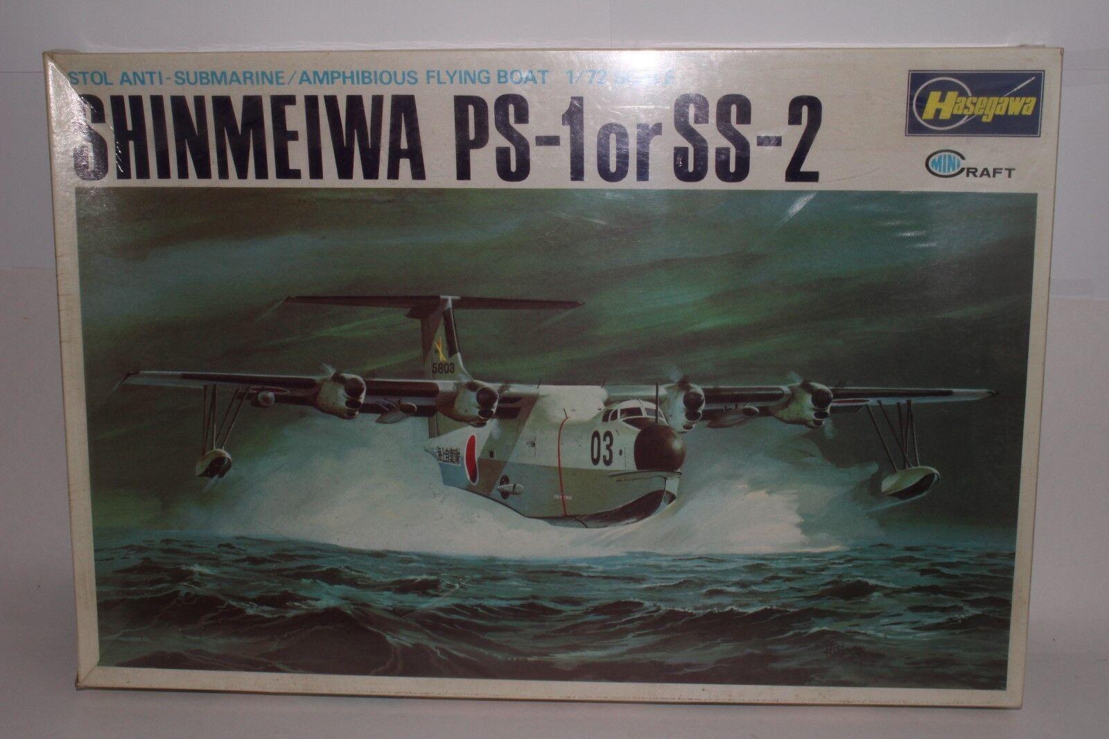 omaggi allo stadio Hasegawa Minicraft 1 72 Scala Kit modellolo Shinmeiwa Ps-1 Ps-1 Ps-1 o Ss-2 Sigillato in  bellissima