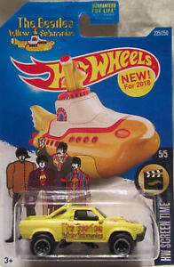 Hot-Wheels-CUSTOM-SUBARU-BRAT-The-Beatles-Yellow-Submarine-Real-Riders-Limited