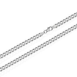 10,00mm breit echte 925er Sterlingsilber Panzerkette 6x diamantiert Silberkette