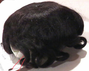6-Dk-Brown-Pure-Mohair-Wig-Baby-Love-New-w-Tag-for-Antique-Baby-Dolls