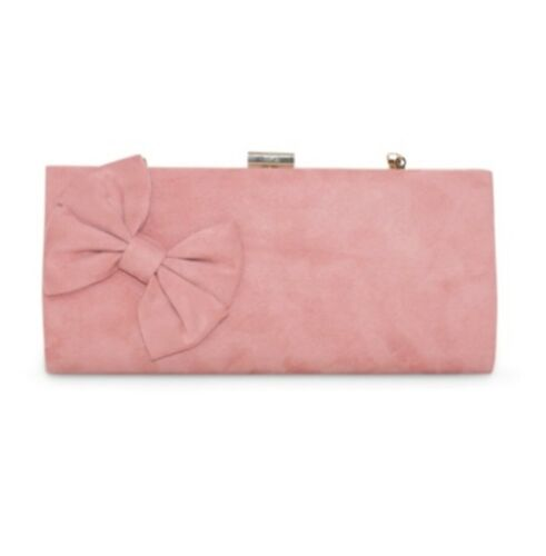 LeahWard Women/'s Faux Suede Wedding Clutch Bag Large Side Bow Evening Bags Purse