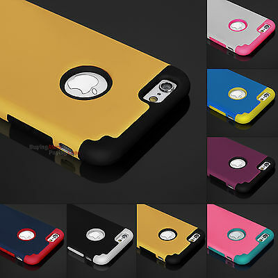 """Hybrid Shockproof Hard&Soft Rubber Rugged Cover Case For Apple iPhone 6 6s 4.7"""""""