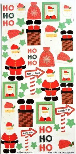 TRIMCRAFT simplemente creativo brillo Pegatinas-scstk 150 Navidad-Santa Claus