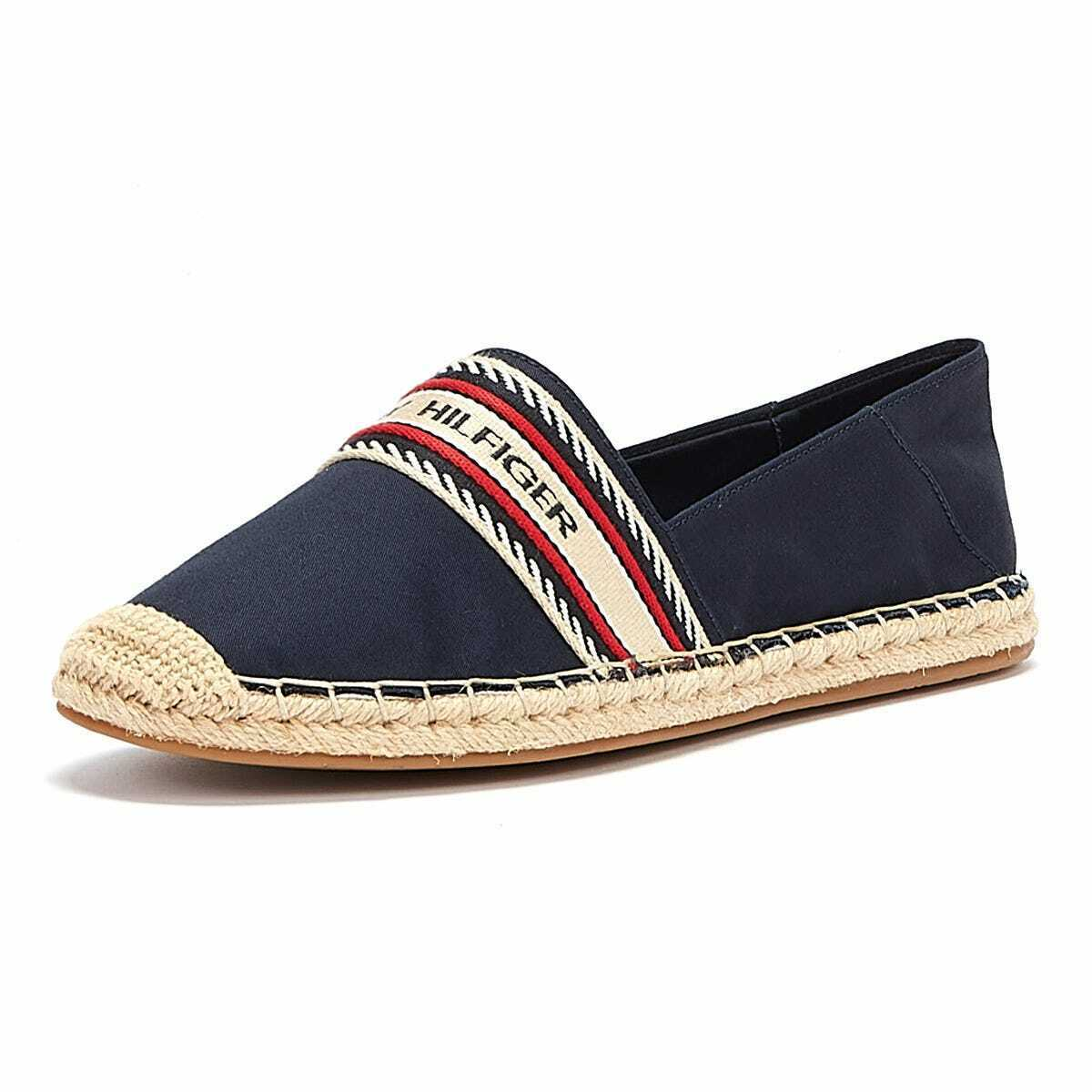 Tommy Hilfiger Artisanal Womens Navy Espadrille Casual Comfy Breathable Shoes