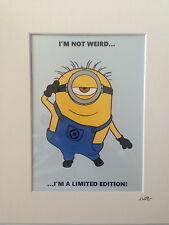Despicable Me - Minion - I'm not weird - Hand Drawn & Hand Painted Cel