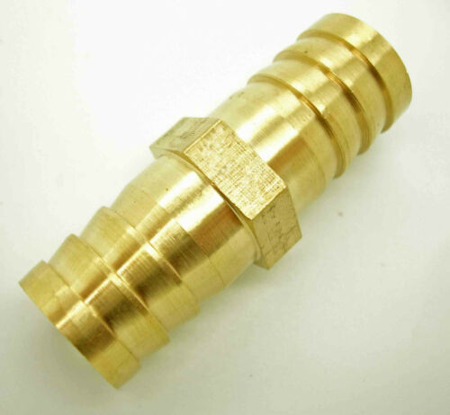 19mm Brass Straight Equal Connector Barbed Pipe Fitting Air Water Hose Joiner