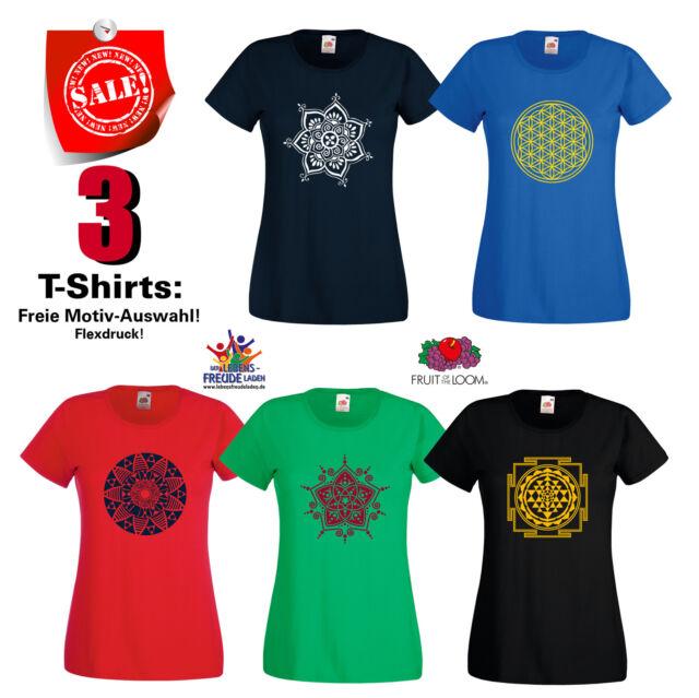 3 T-Shirts zur freien Auswahl im Shop FRUIT OF THE LOOM Lady Fit Valuew.T- Flex